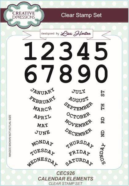 lisa horton stamp set calendar elements