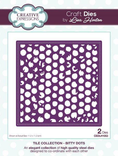 lisa horton craft dies tile collection bitty dots
