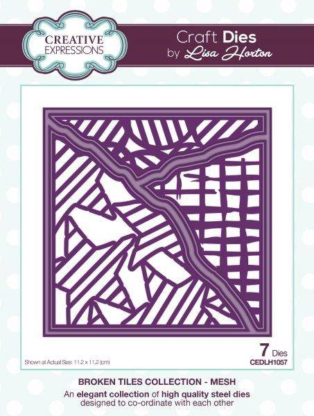 Lisa horton craft die broken tiles mesh