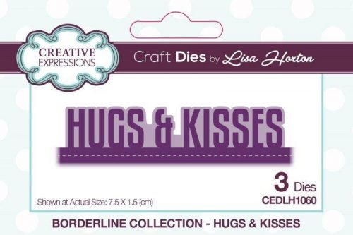 lisa horton craft dies borderline collection hugs and kisses