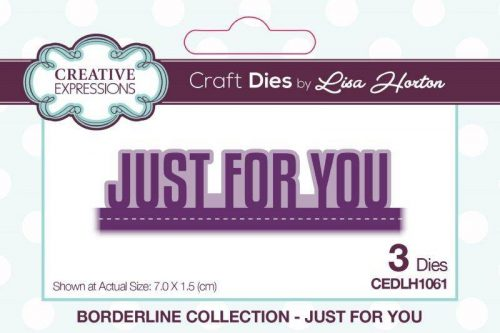 lisa horton craft dies borderline collection just for you