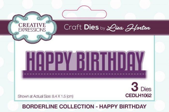 lisa horton craft dies borderline collection happy birthday