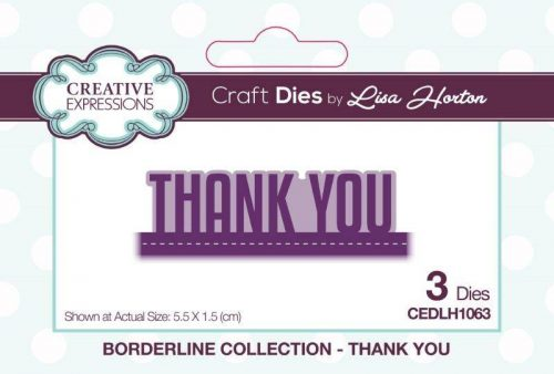lisa horton craft dies borderline collection thank you