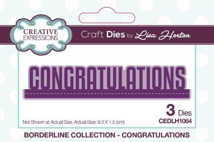 lisa horton craft dies borderline collection congratulations