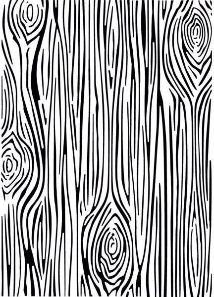 Creative Expressions Embossing Folder 5 x 7 Skinny Woodgrain