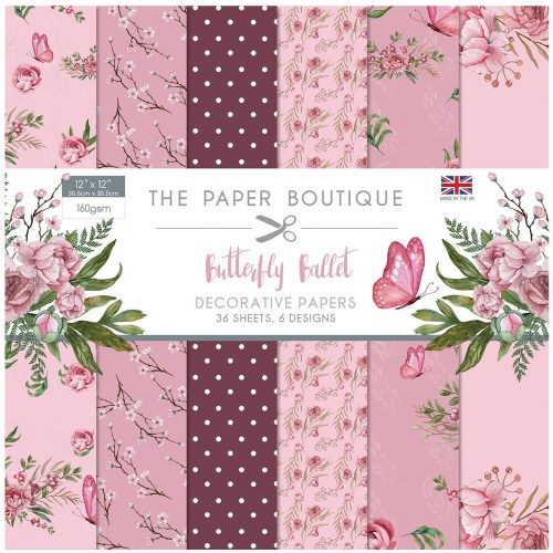 Paper Boutique Butterfly Ballet 12x12 Paper Pad