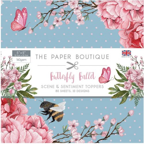 Paper Boutique Butterfly Ballet 5x5 Sentiments Pad