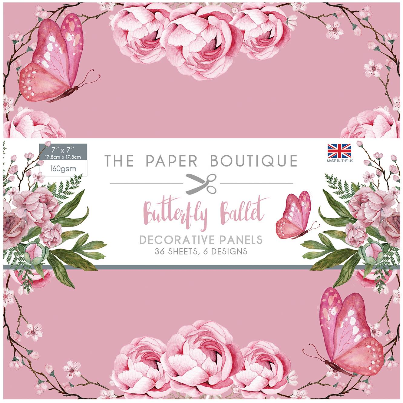 Paper Boutique Butterfly Ballet 7x7 Panel Pad