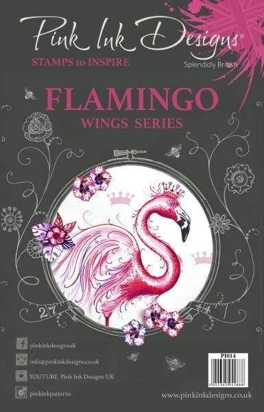 Pink Ink Designs A5 Flamingo Stamp (Wing Series)