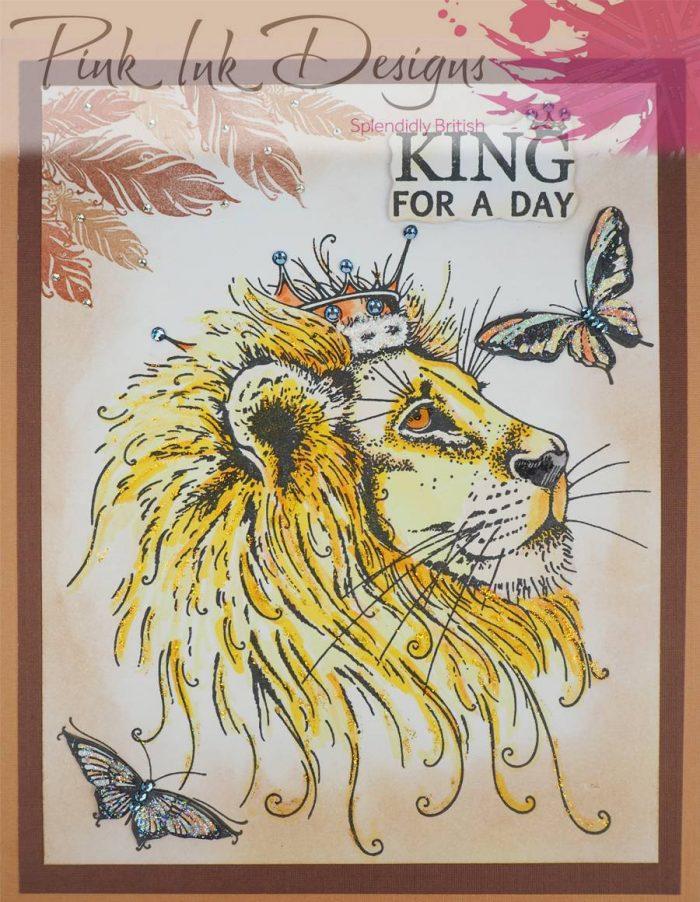 Pink Ink Designs Lion A5 Stamp Sample