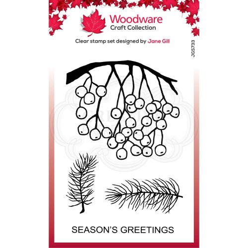 Woodware Festive Clear Stamps