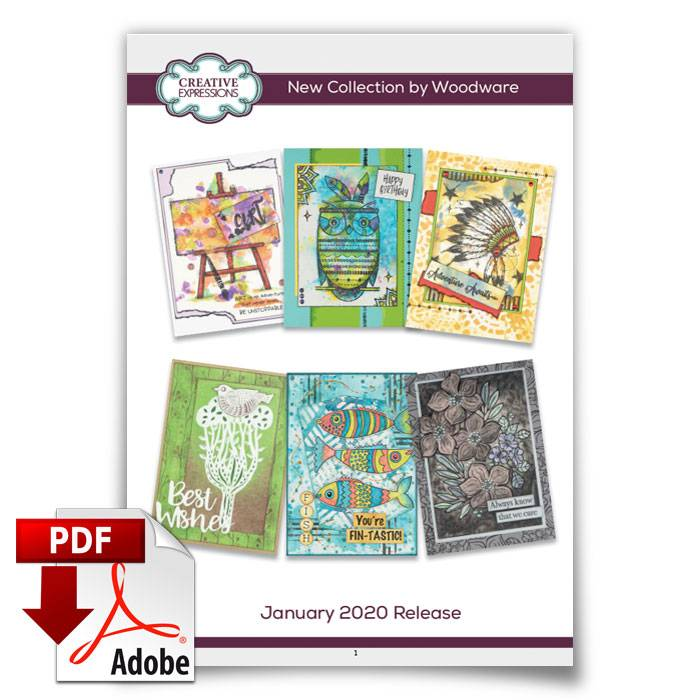 creative expressions woodware stamps march 2020